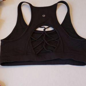 Lululemon Black Sports bra in size 10